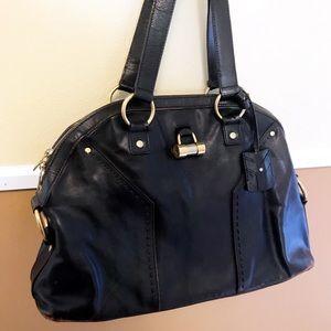 Auth. Saint Laurent YSL Medium Muse Shoulder Bag